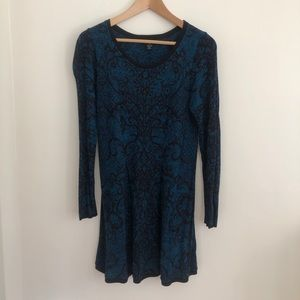 Black and blue paisley knit dress | Style & Co.